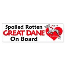 Spoiled Merle Dane UC Bumper Bumper Sticker