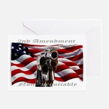 Funny Usa flag statue of liberty Greeting Card