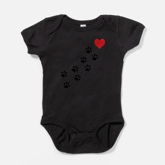 Cute Dog paw Baby Bodysuit