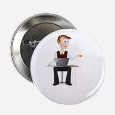 "Cartoon Business Man Havin 2.25"" Button (100 pack)"