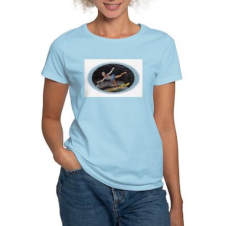 New! Swan Show Ski Waterski Sky Blue T-Shirt