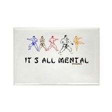 IT'S ALL MENTAL Rectangle Magnet