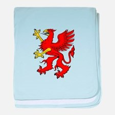 Red griffin baby blanket