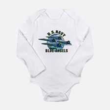 Cute Blue angels Long Sleeve Infant Bodysuit
