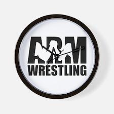 Arm wrestling Wall Clock