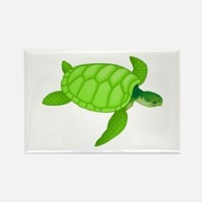 Green sea turtle Magnets