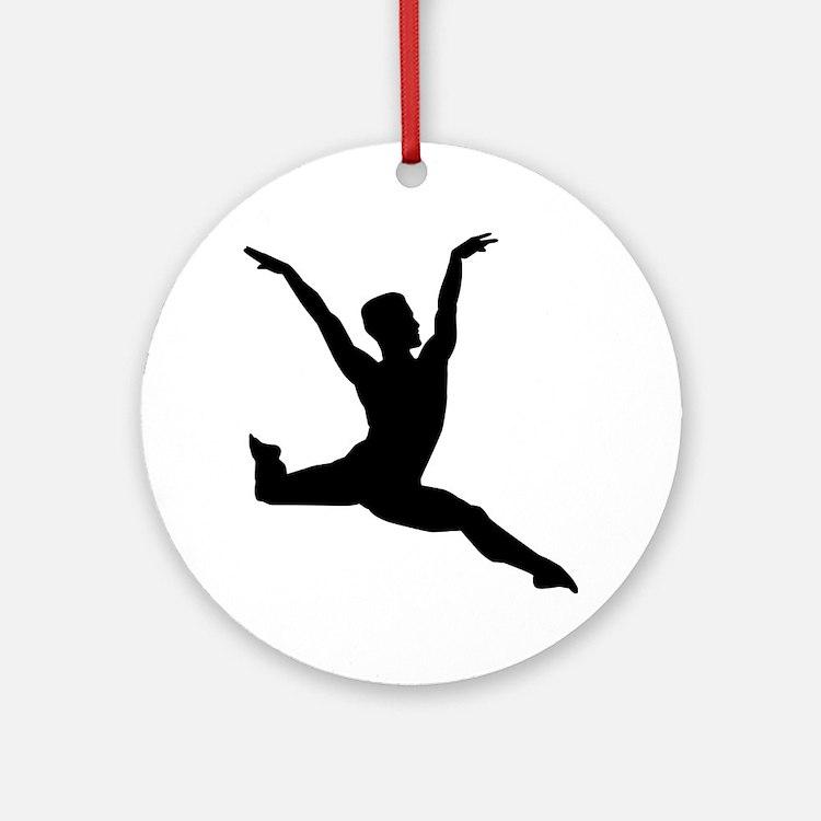 Ballet man Round Ornament