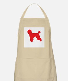 Poodle Red 1 Apron