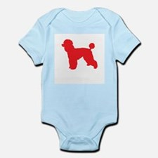 Poodle Red 1 Body Suit