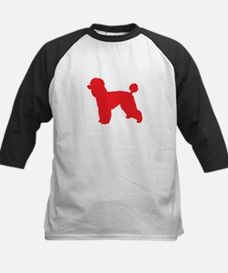 Poodle Red 1 Baseball Jersey