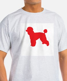 Poodle Red 1 T-Shirt