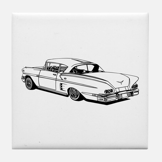 Shelby Mustang Cobra car Tile Coaster