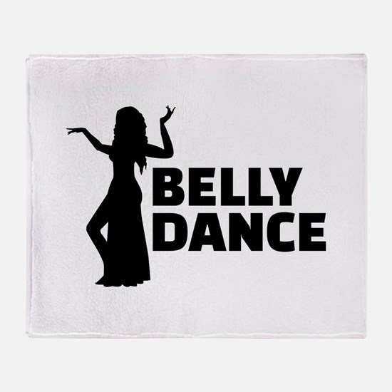 Belly dance Throw Blanket
