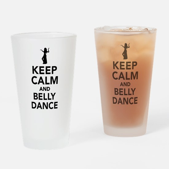 Keep calm and belly dance Drinking Glass