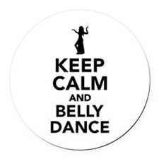 Keep calm and belly dance Round Car Magnet