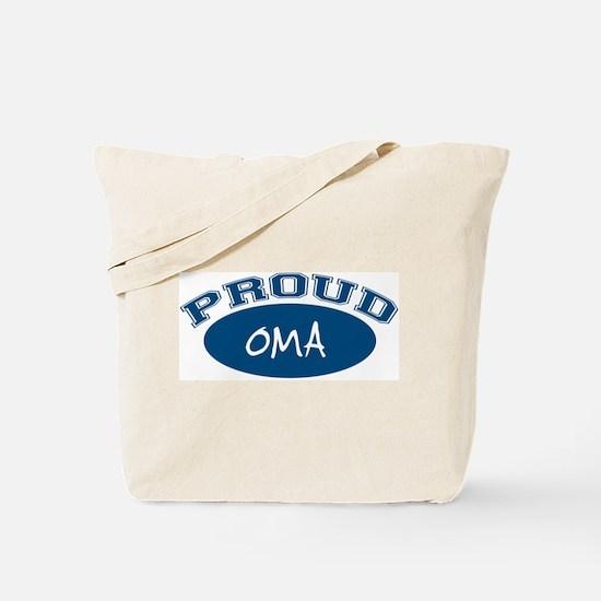 Proud Oma (blue) Tote Bag