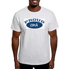 Proud Oma (blue) Ash Grey T-Shirt