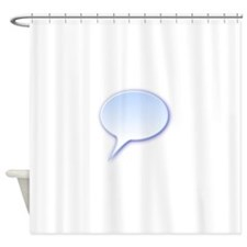 Demikl D Rounded Speech Bubble Shower Curtain