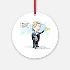 Cute President Round Ornament