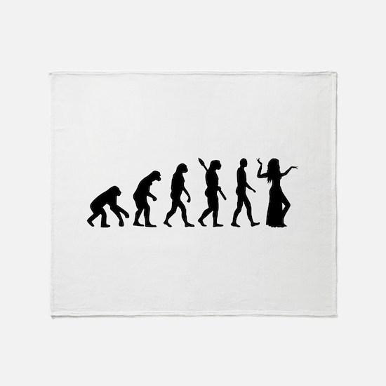 Evolution Belly dance Throw Blanket