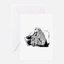 Macaque Greeting Cards