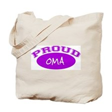 Proud Oma (purple) Tote Bag