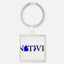 Cool Up north michigan Square Keychain