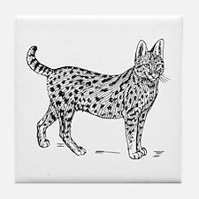 Serval Tile Coaster