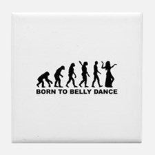 Evolution Belly dance Tile Coaster