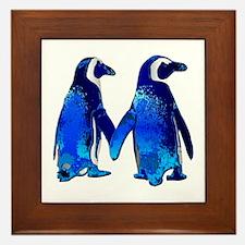 Love penguins Framed Tile
