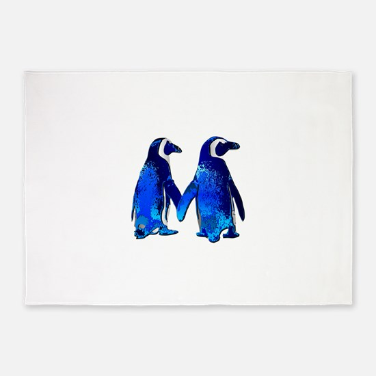 Love penguins 5'x7'Area Rug