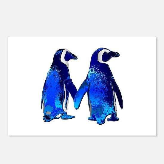 Love penguins Postcards (Package of 8)