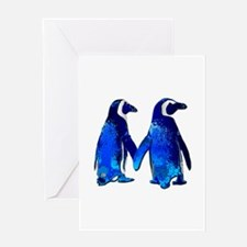 Love penguins Greeting Cards