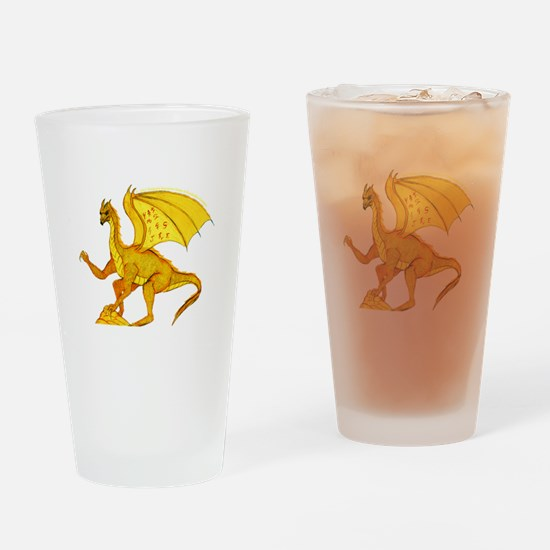 gold dragon Drinking Glass