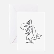 Vulture silhouette Greeting Cards
