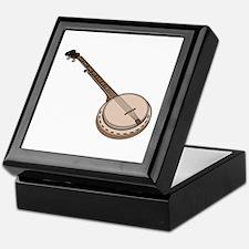 Wooden Banjo Keepsake Box