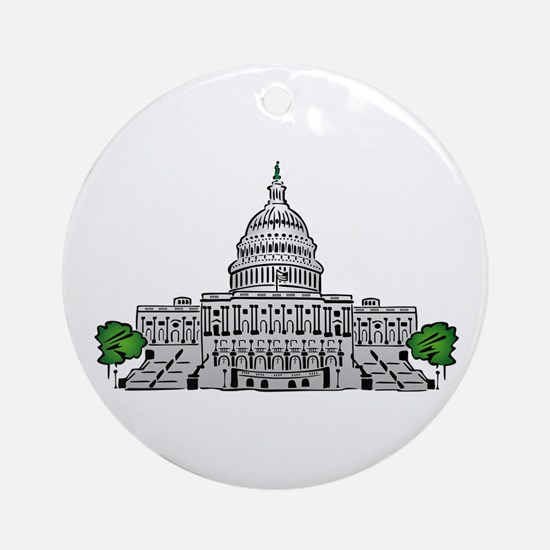 Us capitol building Round Ornament