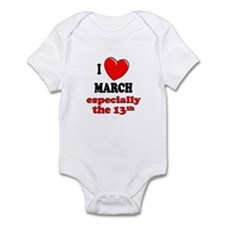 March 13th Infant Bodysuit