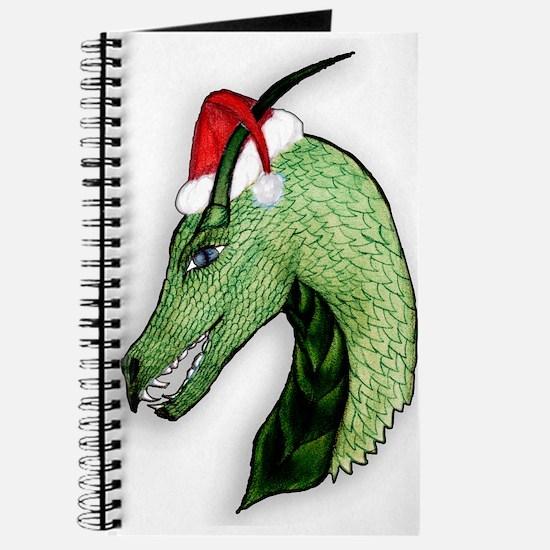 Green Christmas dragon Journal