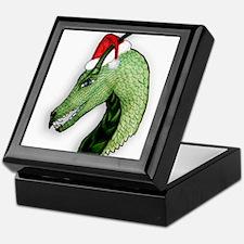 Green Christmas dragon Keepsake Box