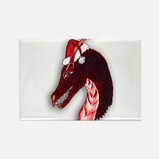 Red christmas dragon Magnets