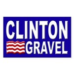 Clinton-Gravel bumper sticker