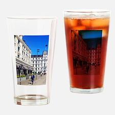 Street Skiing Drinking Glass