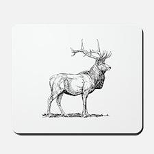 Elk silhouette Mousepad