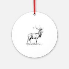 Elk silhouette Round Ornament