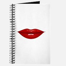Red lovely lips Journal