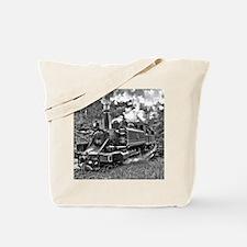 Vintage Black and White Steam Train Locom Tote Bag