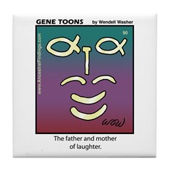 #90 Laughter Tile Coaster