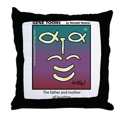 #90 Laughter Throw Pillow