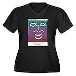 #90 Laughter Women's Plus Size V-Neck Dark T-Shirt